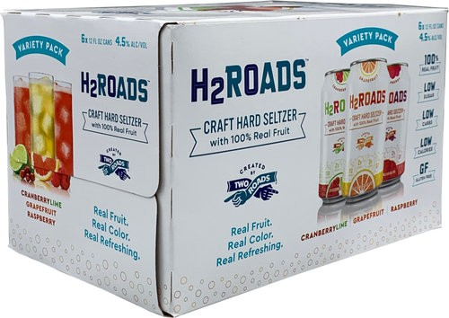 H2Roads Variety Pack Craft Hard Seltzer12Pk Can