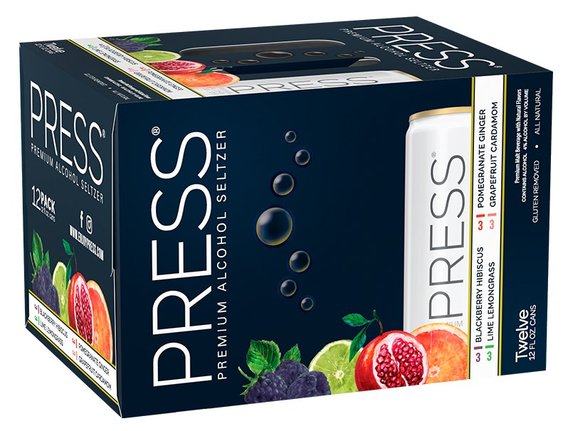 Press Seltzer Variety Pack 12oz 2/12Pk Can