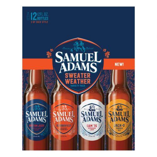 Sam Adams Sweater Weather Fall Variety 12oz 2/12Pk Bottle