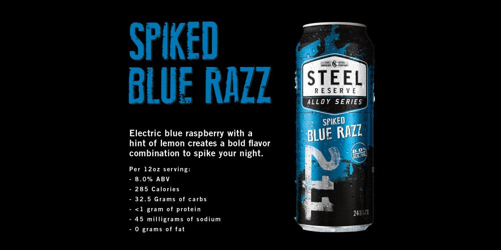 Steel Reserve Spiked Blue Raspberry