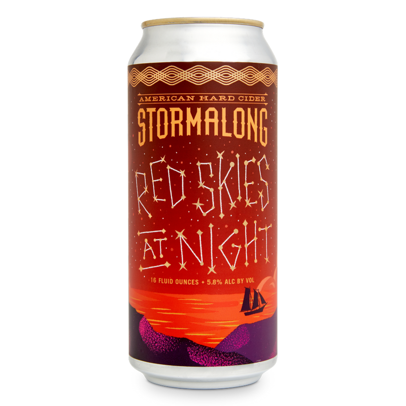 Stormalong Cider Red Skies at Night