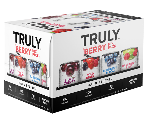 Truly Hard Seltzer Berry Mix Pack Vty 12oz 2/12Pk Can