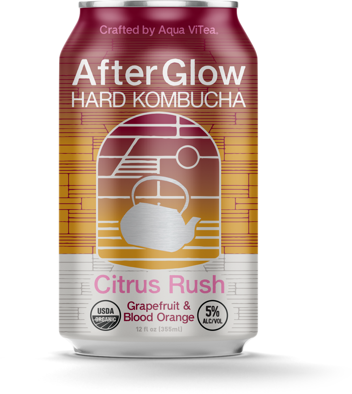 AfterGlow Hard Kombucha Citrus Rush