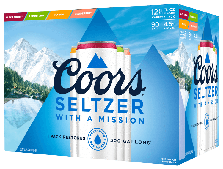 Coors Hard Seltzer Variety 12oz 2/12Pk Can