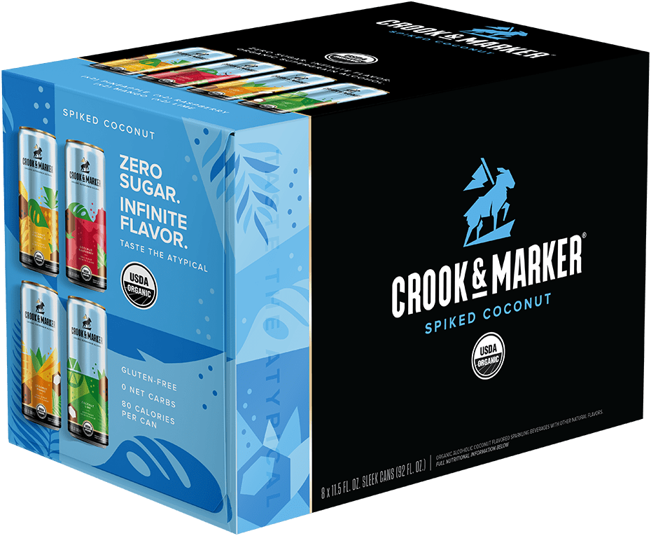 Crook & Marker Spiked Coconut Vty 11.5oz 3/8Pk Can